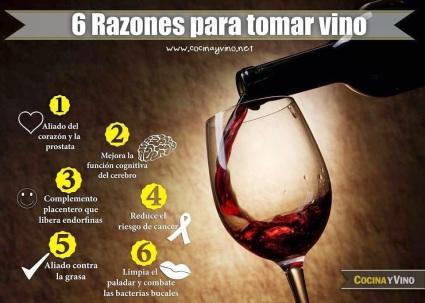 6 razones para tomar vino