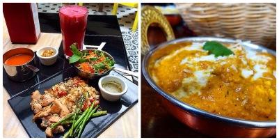 curry de pollo y almuerzo