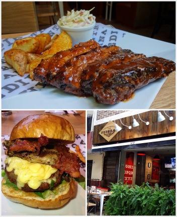 costillas y hamburguesa federal ribs